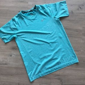 NIKE ~ teal running dri fit T-shirt size XL